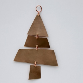 Christmas Tree made from scraps of thin copper.