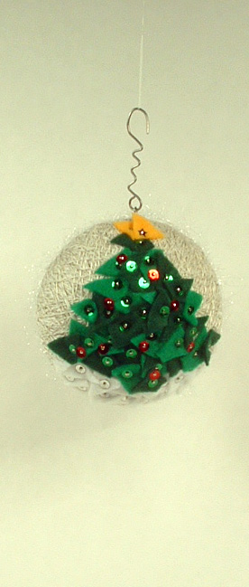 Christmas tree side of ornament