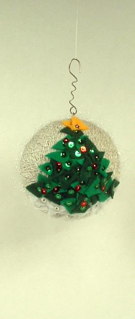 Christmas tree side of ornament