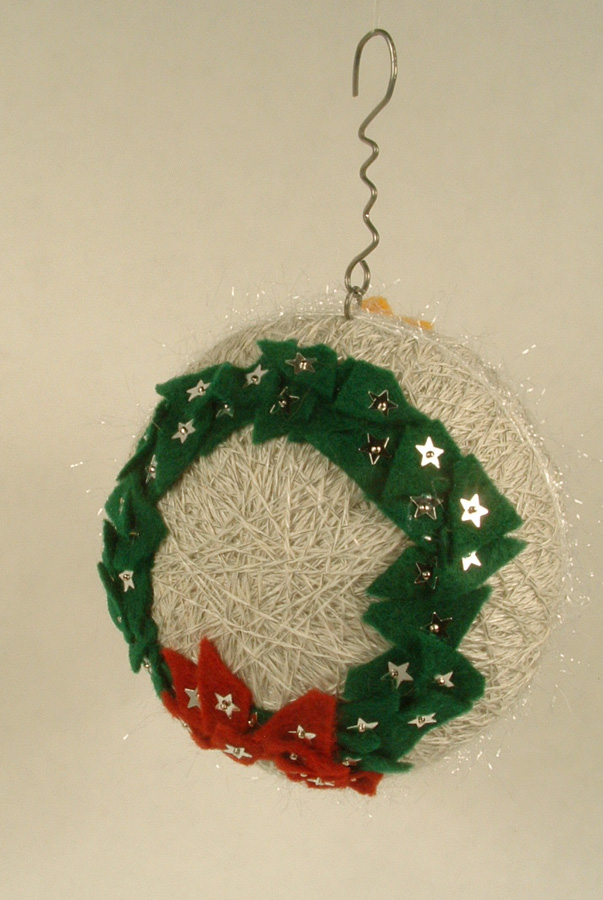 Side view of Christmas ornament