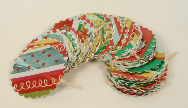 Christmas Wrapping Paper Garland