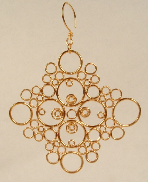 Gold ring Christmas ornament