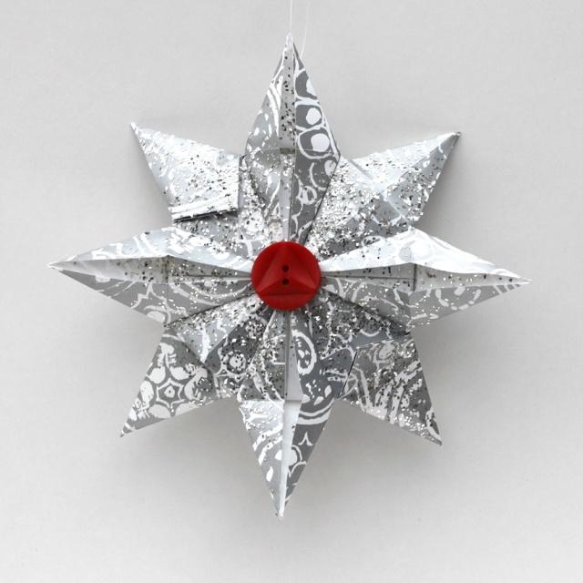 origami, ornament, Christmas, homemade, How to, DIY, star, paper