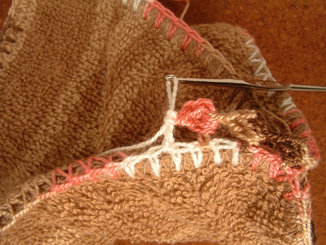 Double Crochet post stitch