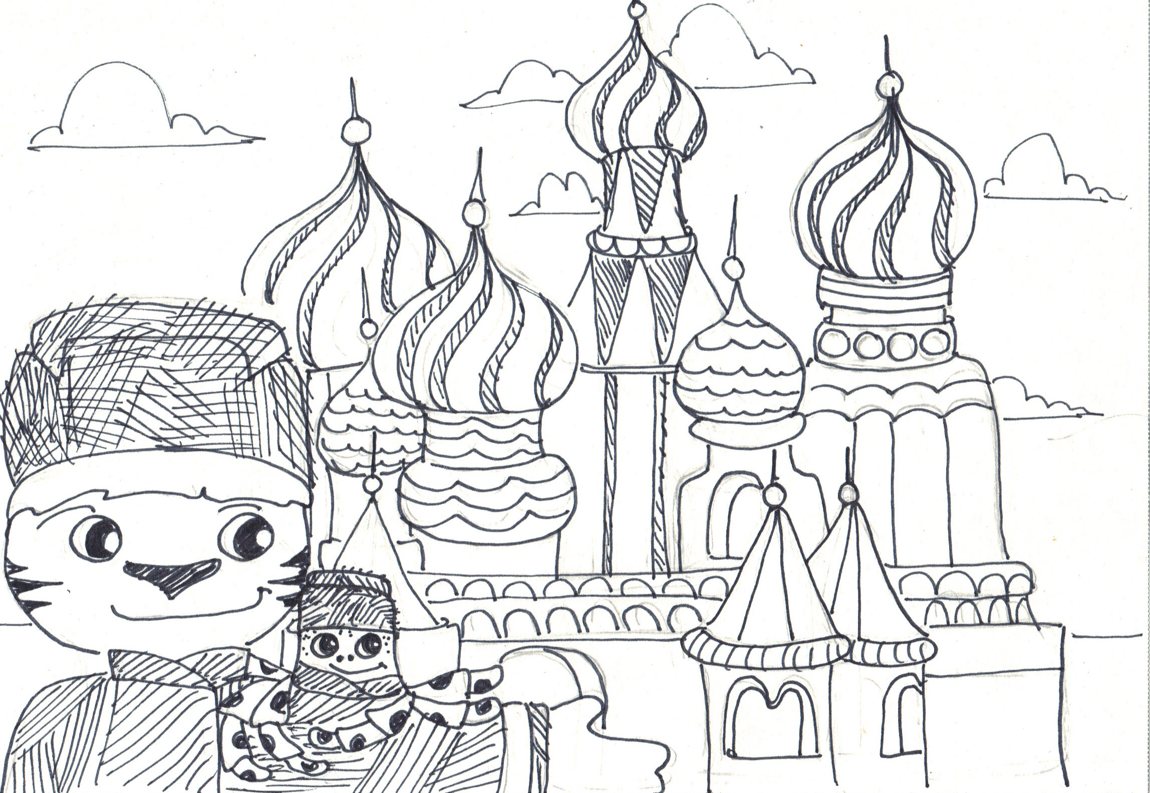 saint basils cathedral coloring pages - photo#19