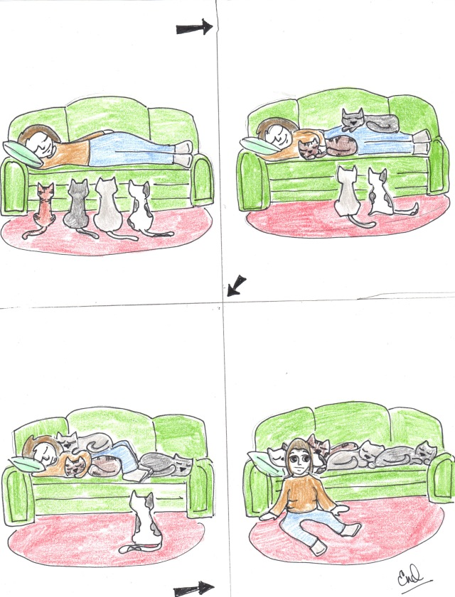 catoon couch
