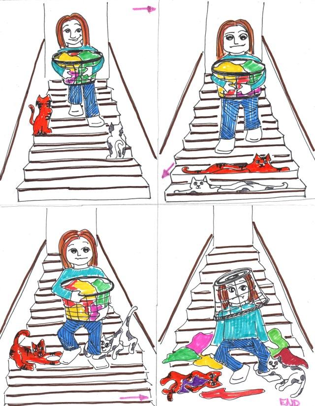 catoon stairs