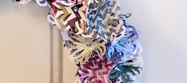 Side view of wreath