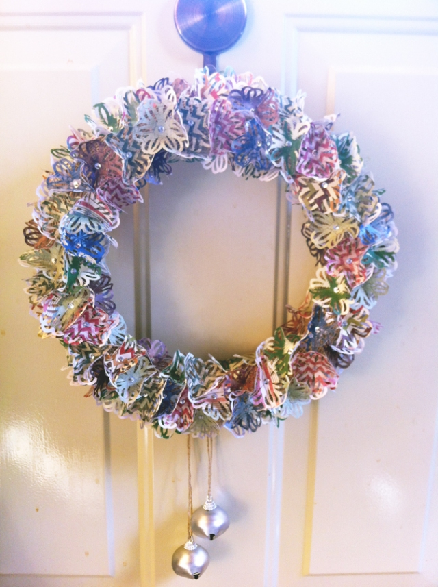 Finished paper wreath