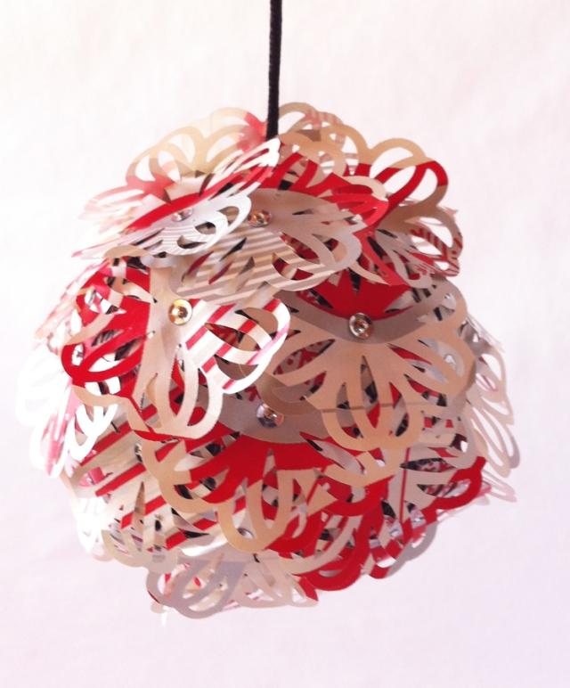Paper ornament close up