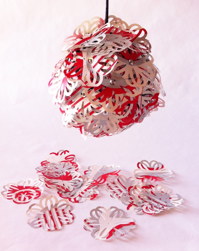Paper ornament with paper punches