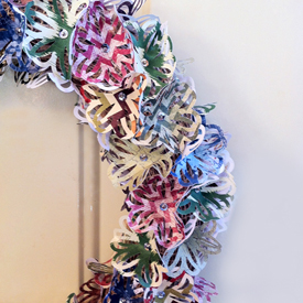 Paper Wreath Close Up CG