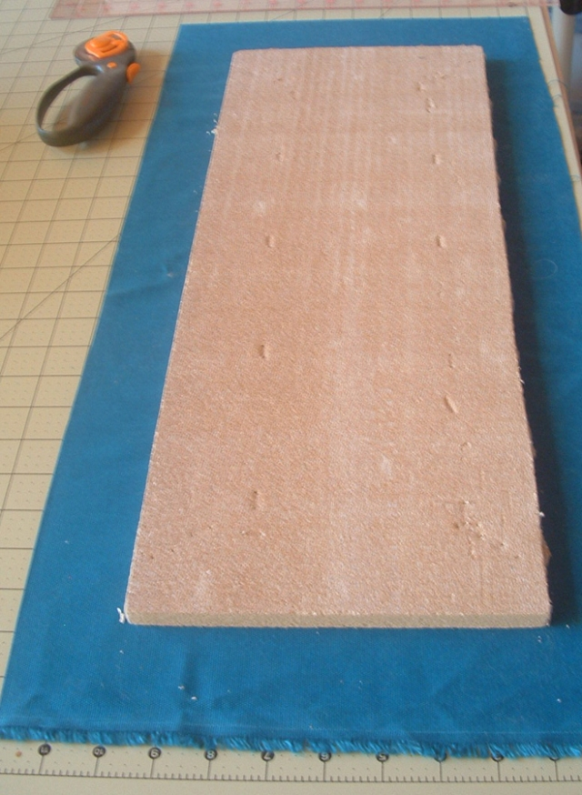 cut material to fit tile