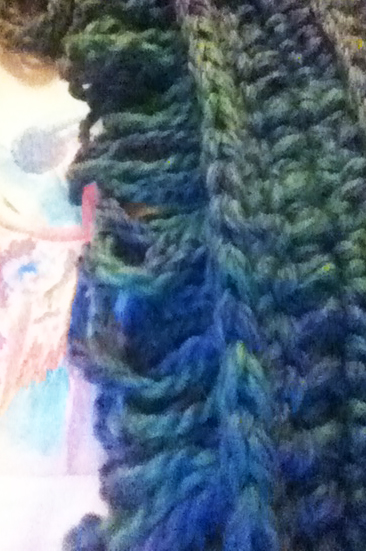 Here is the backside of the bouclestitch.