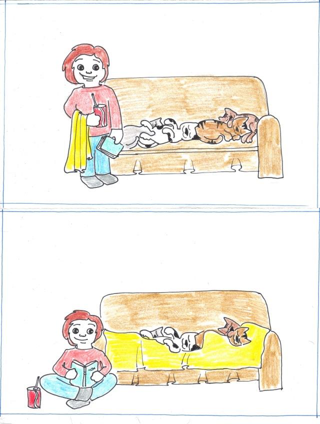 sunday catoon sleeping cats