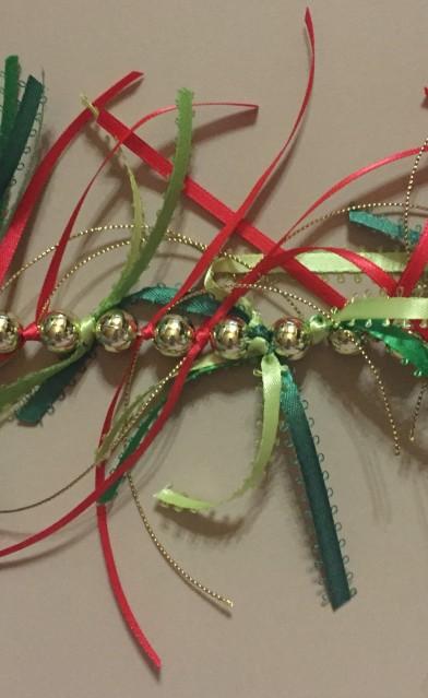 Beaded ribbon garland.