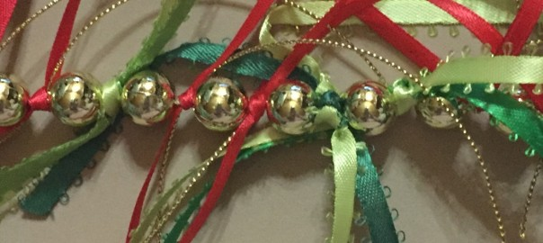 Beaded ribbon garland.
