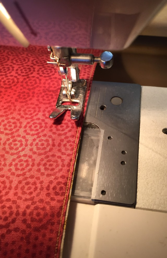 sewing topstitching