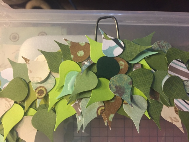 Close up of wreath hanger.