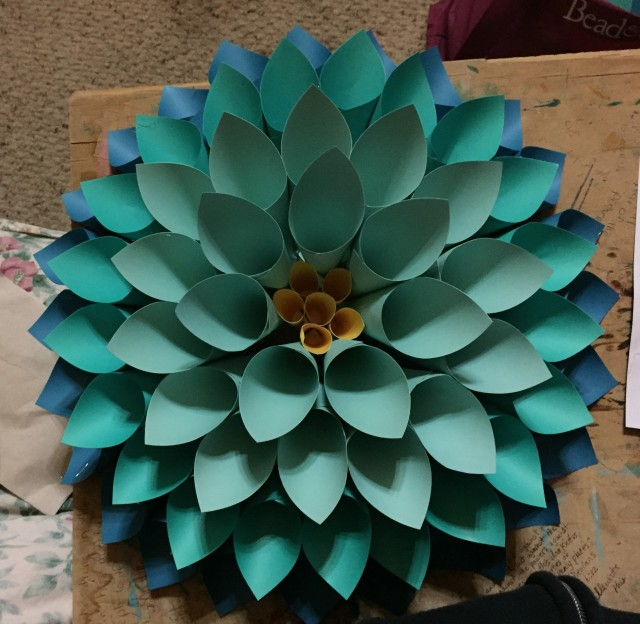 yellow center of flower done